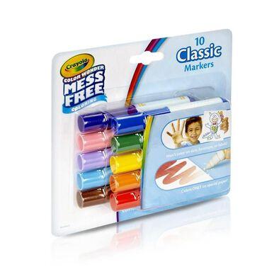 Crayola繪兒樂經典可水洗迷你水彩筆10支裝