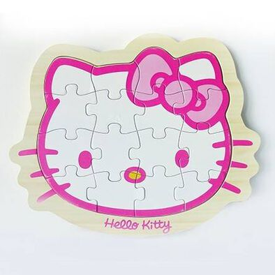 Hello Kitty吉蒂貓木製學前拼圖