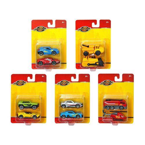 Fast Lane極速快線 Fast Lane極速快線 2 Pack Die Cast Vehicles 隨機發貨