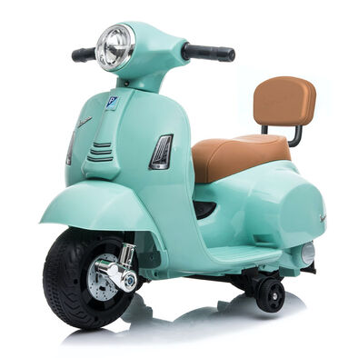 Mini Vespa Gts Scooter Electric Ride On - Light Blue