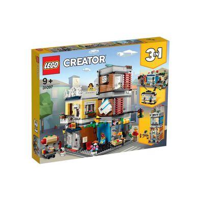LEGO樂高創意系列 聯排別墅竉物店和咖啡店 31097