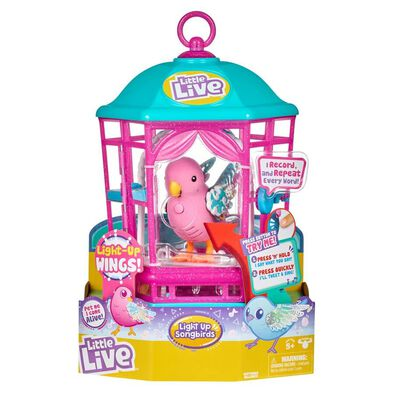 Little Live Pets我的小寵物悄悄知音鳥-系列3(雪亮藍)-連鳥籠-隨機發貨