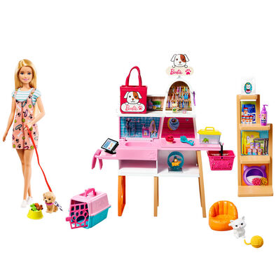 Barbie Doll And Pet Boutique Playset
