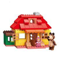 Qman Keeppley  瑪莎與熊 瑪莎之家情境積木套裝