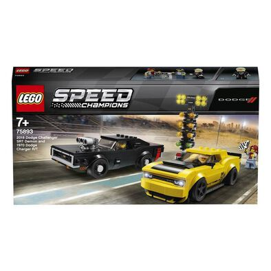 LEGO樂高超級賽車系列 LEGO Speed Champions 2018 Dodge Challenger Srt Demon And 1970 Dodge Charger R/T 75893