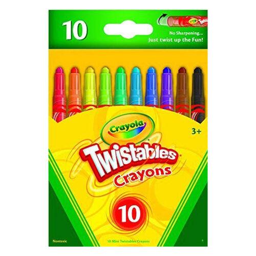 Crayola繪兒樂 迷你可轉蠟筆10支裝