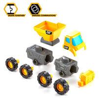 CAT卡特比勒拼砌3件裝(挖掘機,輪式裝載機和水泥攪拌機)
