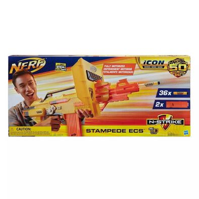 NERF熱火50 週年圖示系列n-Strike Stampede Ecs 機動發射器