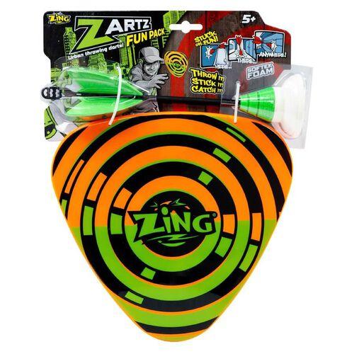 Zing Zartz 1支吸盤飛鏢 + 2個小盾牌吸塑套裝