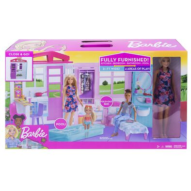 Barbie House With Doll Playset