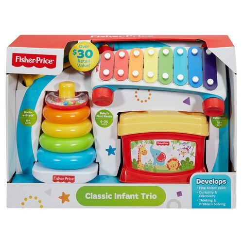 Fisher-Price費雪 經典嬰兒三重奏禮品套裝