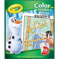 Crayola繪兒樂 迪士尼魔雪奇緣 顏色及貼紙冊