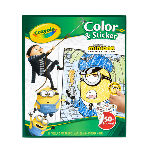 Crayola繪兒樂 迷你兵團2彩色貼紙書
