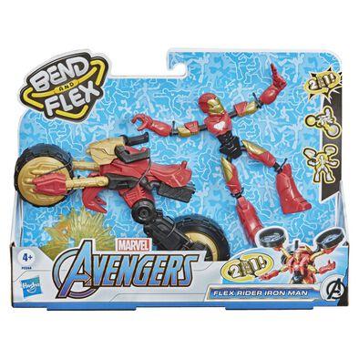 Marvel Avengers漫威復仇者聯盟 Bend and Flex 靈活騎士鐵甲奇俠及 2 合 1 電單車