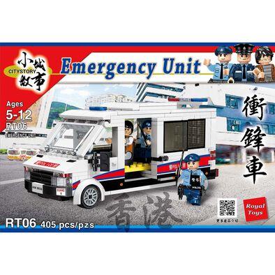 City Story 小城故事 拼裝積木 香港警察衝鋒車