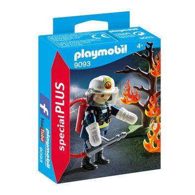 Playmobil摩比世界消防員及樹木