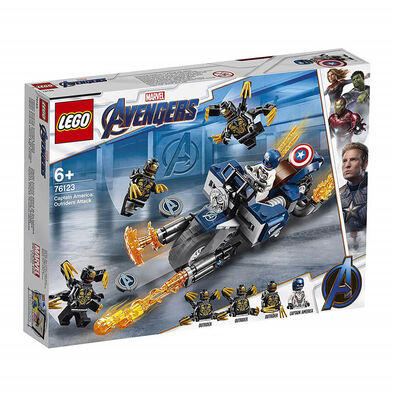 LEGO樂高漫威超級英雄系列 LEGO Marvel Avengers Captain America Outriders Attack 76123