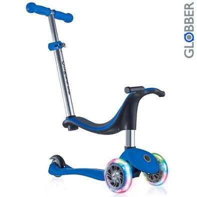 Globber高樂寶  Go•Up Sporty Lights 閃輪三輪滑板車 (藍色)