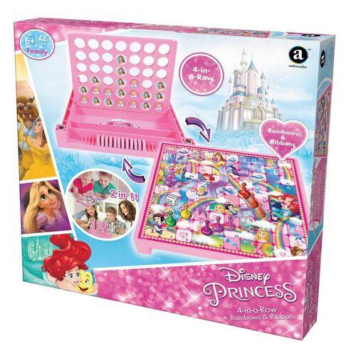 Disney Princess迪士尼公主四連棋及彩虹絲帶遊戲