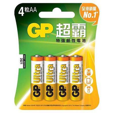 Gp超霸特強鹼性電池 2A 4粒咭裝