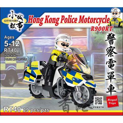 City Story小城故事 拼裝積木 警察電單車