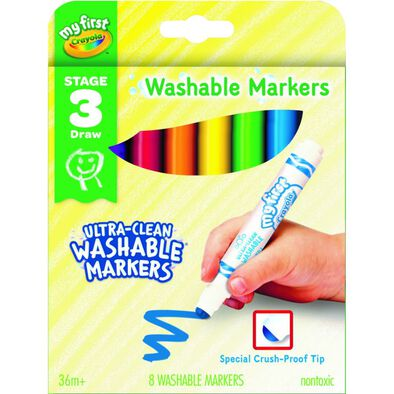 Crayola繪兒樂 幼兒 8CT 可水洗馬克筆