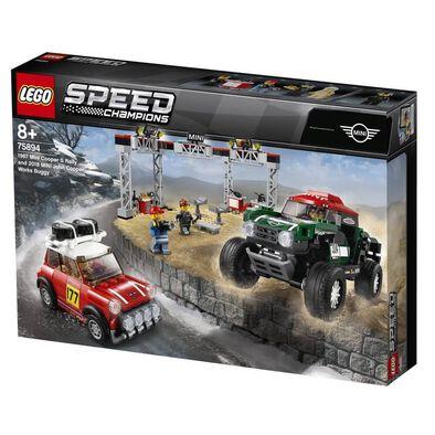 LEGO樂高超級賽車系列 LEGO Speed Champions 1967 Mini Cooper S Rally And 2018 Mini John Cooper Works Buggy 75894
