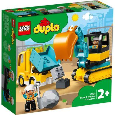 LEGO Duplo 卡車和履帶式挖掘機 10931