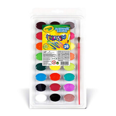 Crayola繪兒樂可水洗水彩24色裝