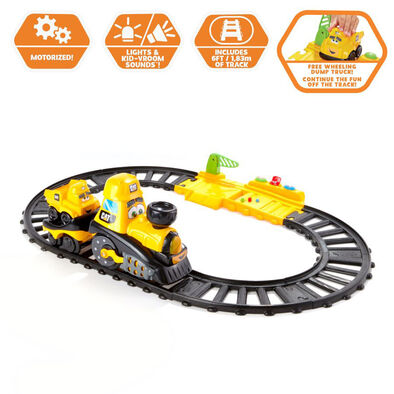 CAT Caterpillar Junior Crew Power Tracks Friends Train Set