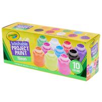 Crayola繪兒樂 10色熒光效果可水洗兒童顏料