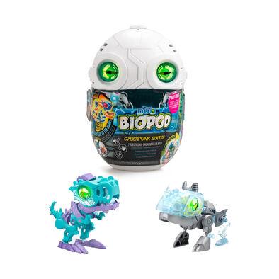 SilverLit銀輝 魔動獸球-數碼龐克 兩件套裝 (金屬色/夜光) 暴龍及犀牛