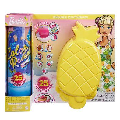 Barbie Color Reveal Foam Doll (Pineapple)
