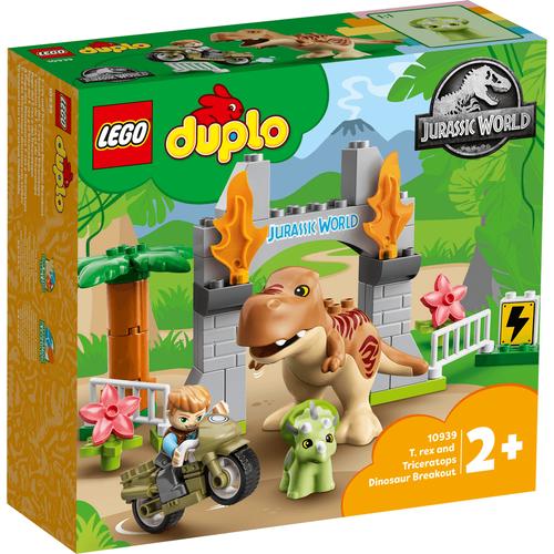 LEGO樂高得寶系列 T. rex and Triceratops Dinosaur Breakout 10939