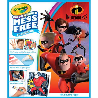 Crayola Incredibles 2 Color Wonder Coloring Book