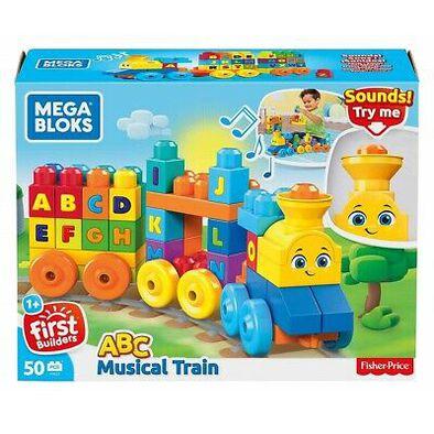 Mega Bloks 美高大積木音樂字母學習火車