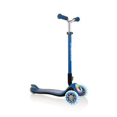 Globber高樂寶 兒童三輪滑板車-閃光升級款藍色
