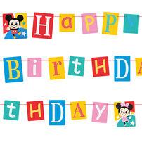 Disney迪士尼 米奇生日裝飾字串
