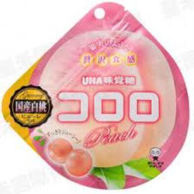 Uha 味覺糖 Cororo水蜜桃味軟糖 40G (100%果汁及水果口感)