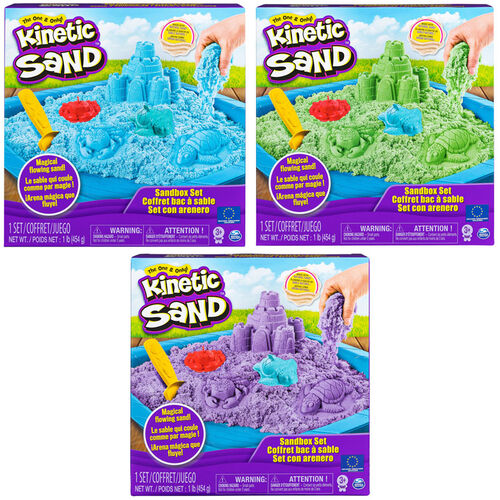 Kinetic Sand Box Set 450G - Assorted