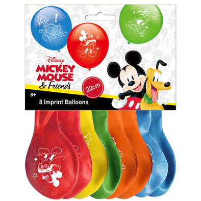 Disney Mickey Imprint Latex Balloons - Assorted