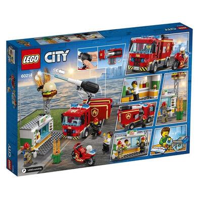 LEGO樂高城市系列漢堡包店消防救援 60214