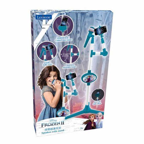 Lexibook Disney Frozen迪士尼魔雪奇緣 2帶有照明支架和揚聲器的麥克風