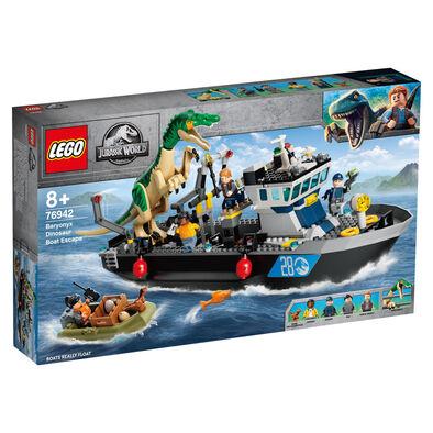 LEGO樂高侏羅紀世界系列 Baryonyx Dinosaur Boat Escape 76942