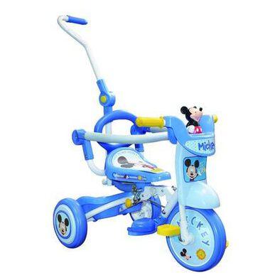 Baby Star米奇帶推桿可折疊三輪車