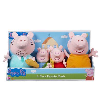 Peppa Pig粉紅豬小妹 -「幸福一家」毛公仔4件裝