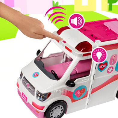 Barbie Care Ambulance Clinic Playset