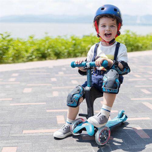 Micro Mobility 【升級版】Micro 迷你三合一【手推】滑板車 冰藍色
