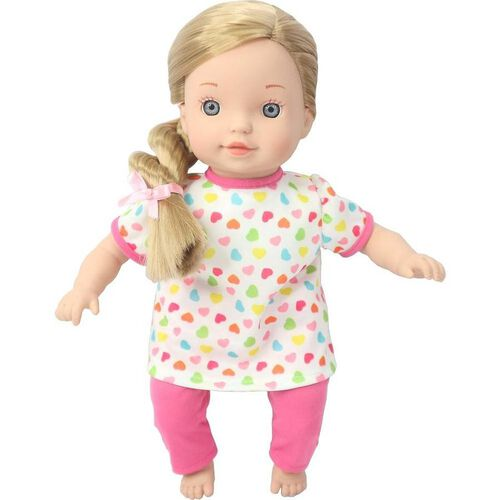 You & Me 12 Inch Toddler Doll Blonde Hair, Blue Style 隨機發貨