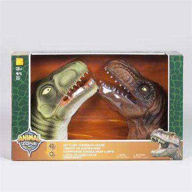 Animal Zone動物叢林 - 2隻環保搪膠恐龍手偶綁綫開窗盒裝